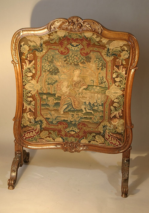 French Needlepoint Firescreen