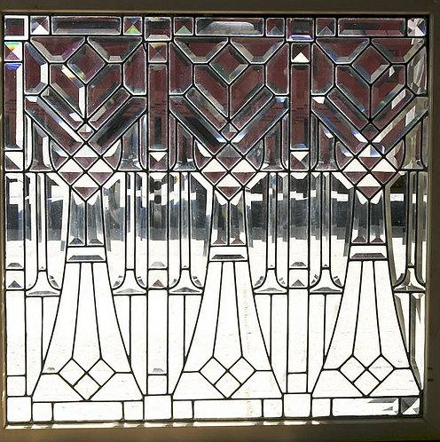 American Beveled Glass Window #222
