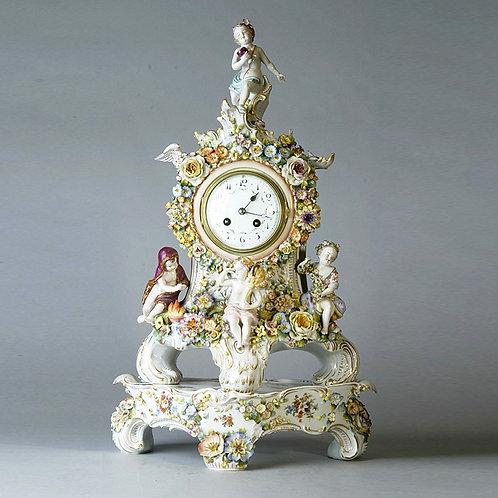 Capo de Monte Mantel Clock