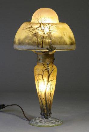 Daum Nancy Winter Boudoir Lamp