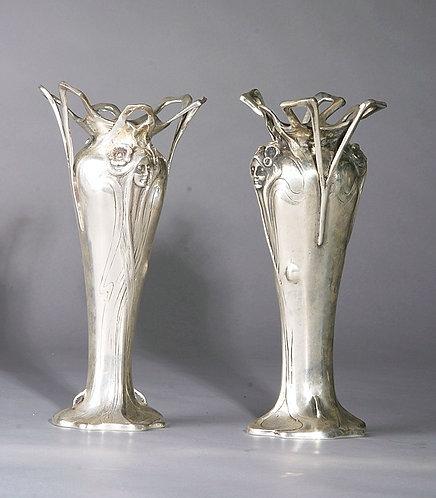 Art Nouveau Silver /Bronze Vases