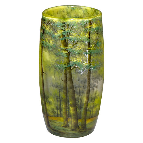 Daum Nancy Scenic Vase
