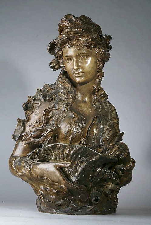 Bust of Woman Austrian signed G. Lacoit
