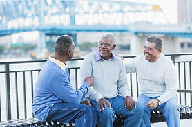 bench-talking-multi-ethnic-senior-men-la