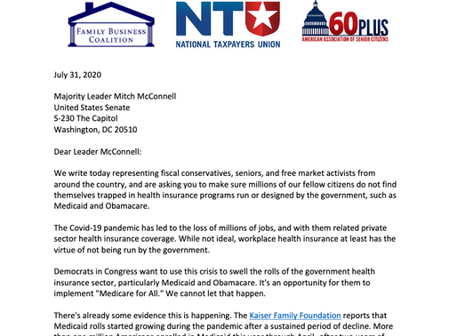 Conservative groups urge Congress to avoid expanding government run healthcare