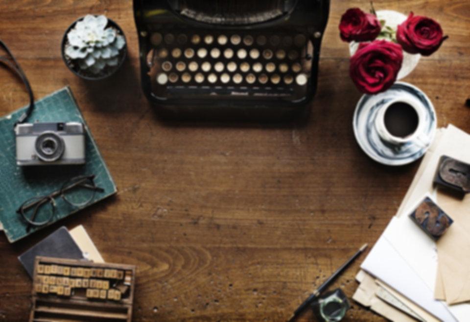 Writer's desk. My Life In Fiction. Daniel Devenney.