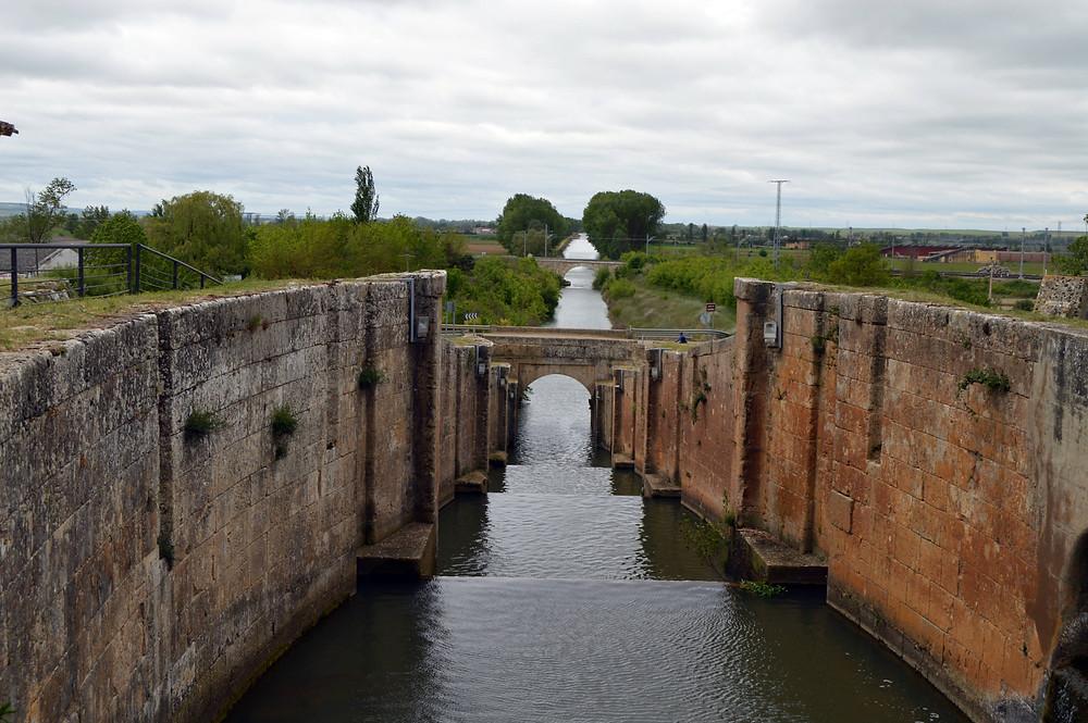 Canal de Castilla desde Frómista.