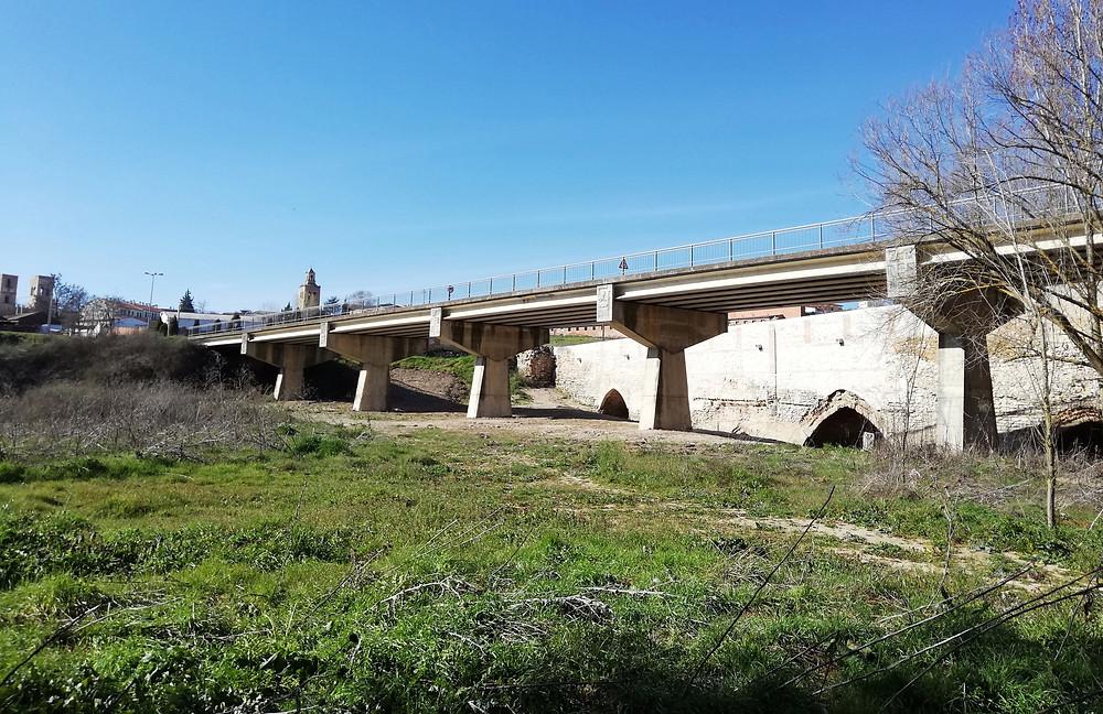 Vista general del puente del Cementerio y del puente de Valladolid.
