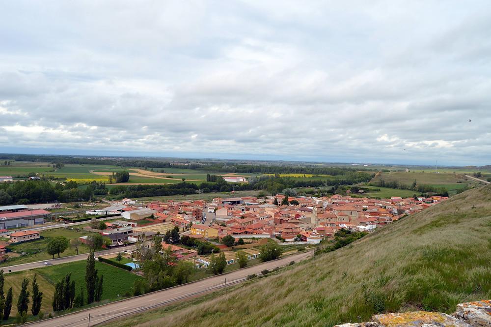 Vista de Monzón de Campos desde el castillo.