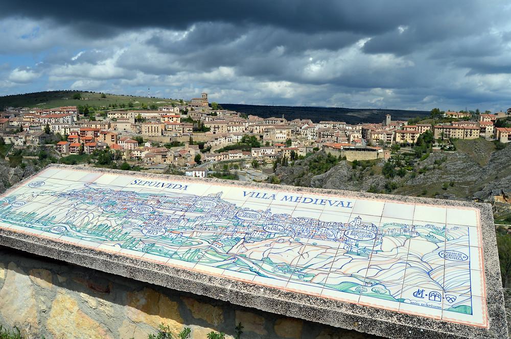 Vistas de Sepúlveda desde el mirador de Zuloaga.