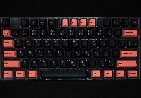 Black Pink Japanese PBT Keycaps Set