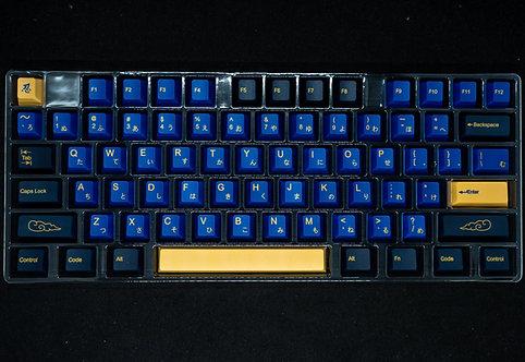 Japanese PBT Blue Samurai Keycaps Set