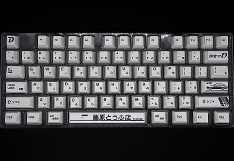 Japanese PBT InitialD Racing 128 keys Keycaps Set (PREORDER ARRIVE MID DECEMBER)