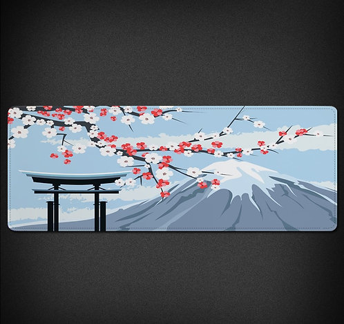 Winter Mount Fuji Japanese Desk Mat