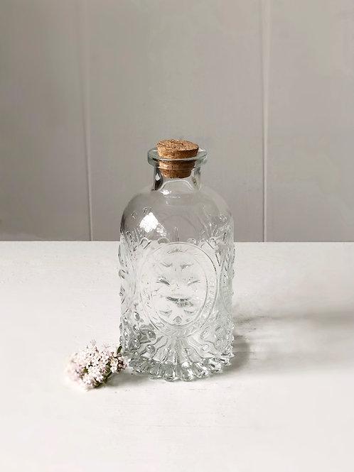 Vintage clear glass vase
