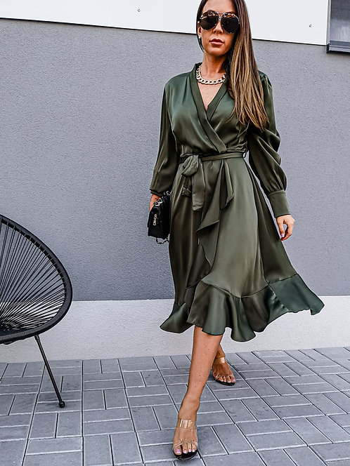 Groene free flowing dress