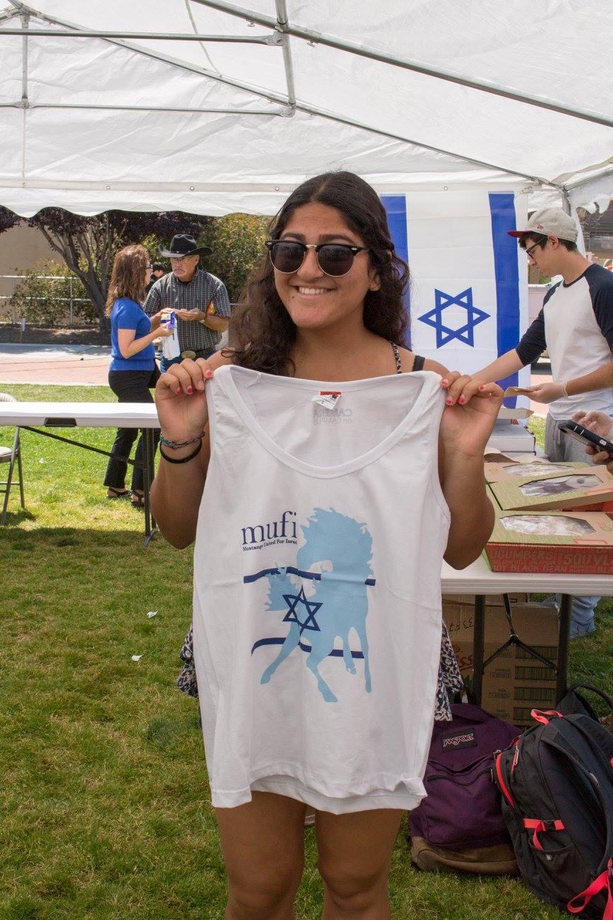 Student w/ MUFI shirt