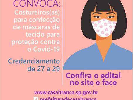 CREDENCIAMENTO DE COSTUREIROS(AS)  PARA FORNECIMENTO DE MÁSCARAS DE PANO