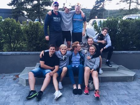 Treningskamerater samlet etter ei god treningsøkt