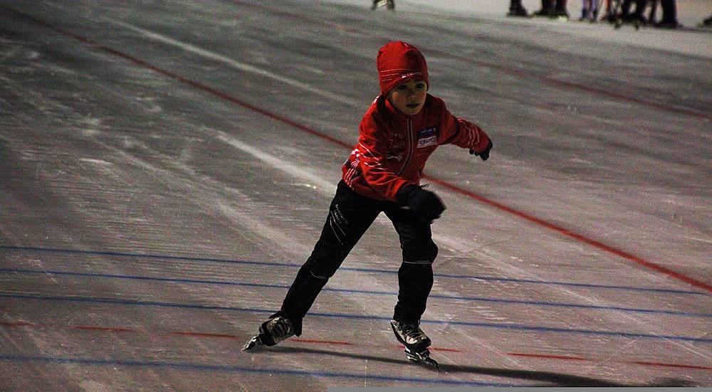 David Martin Davidsen i aksjon på 100 meter