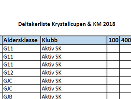 Krystallcupen & KM 2018