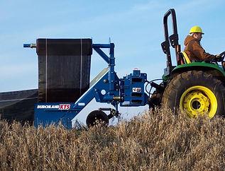 Burchland XTS Silt Fence Installer, erosion control attachment, silt fence plow, install silt fence easily