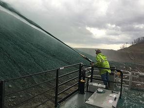 Apex 4000 gallon hydroseeder, erosion control, mine reclamation, pipeline restoration, landfill seeding