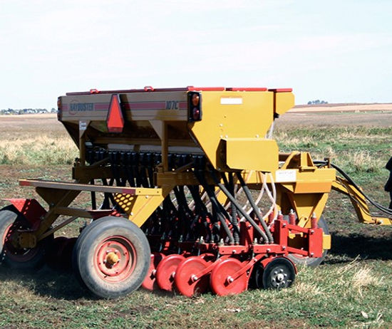 Haybuster 107C Seed Drill, balebuster, hay processor, straw blower, erosion control