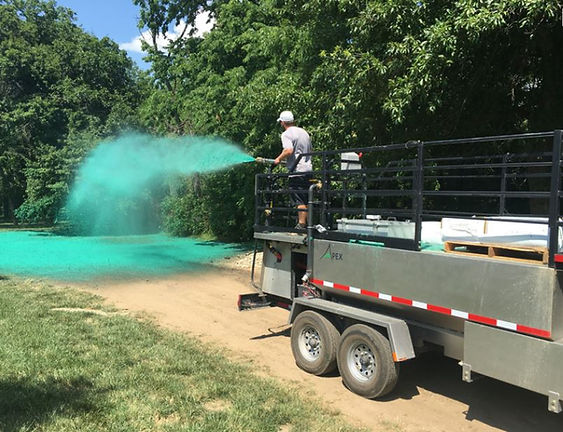 Apex Applicators, Hydroseeders, hydroseeding equipment, 1200 gallon hydroseeder, Finn T120, Finn hydroseeder