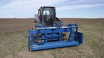 Burchland BR2 blanket unroller, erosion control time saver, increase production, straw blanket installer