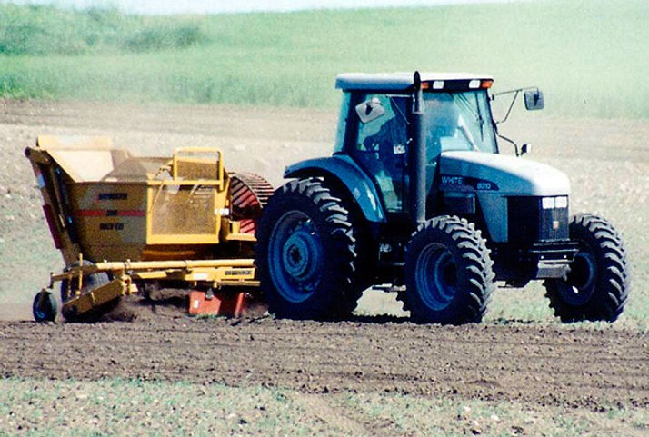 Haybuster 3106 Rock Picker, erosion control, ground preparation equipment, seedbed attachment