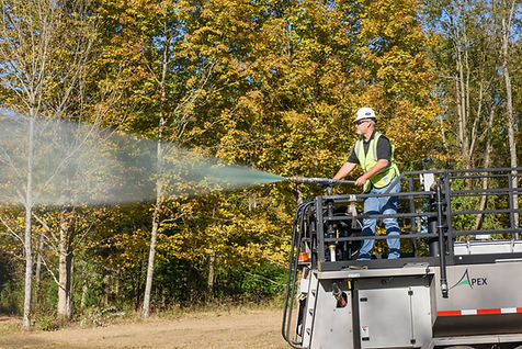 Apex 1200 gallon seeder, hydroseeder, erosion control, seeding, hydromulcher, Profil Products, SprayMatt, Flexterra HP-FGM, ProGaics, HydroBlanket