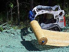 Burchland EZR Blanket Roller, straw blanket installer, erosion control attachment, erosion