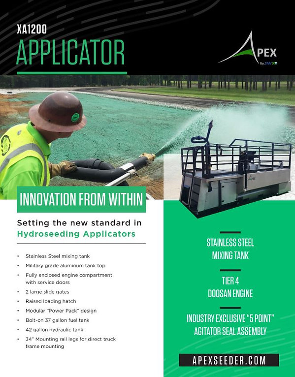 Apex by Fecon, 1200 gallon hydroseeder for sale, best 1200 gallon hydroseeder, hydroseeding, hyroseeding equipment, eroson control