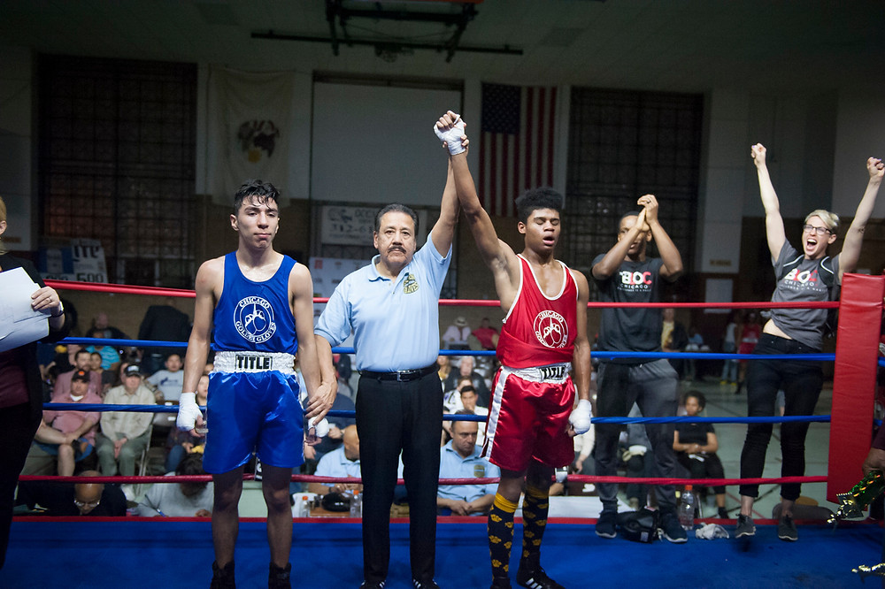 Tyler Matthews from The Bloc at Chicago Golden Gloves Boxing | Photo by Michelle Kiem