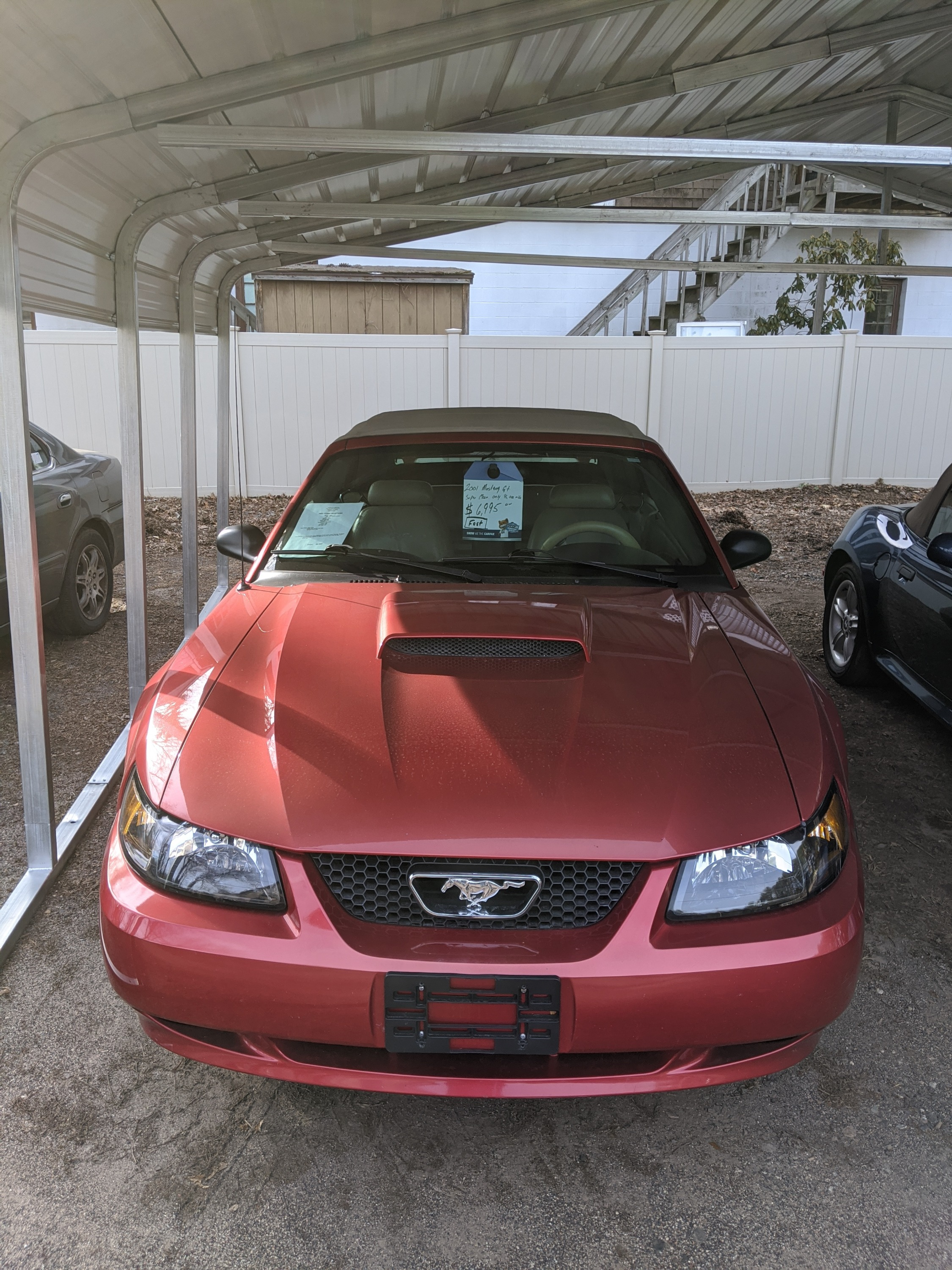 2001 Ford Mustang with 95,650 miles