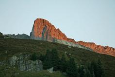 Evening sun on the mountain
