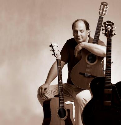 Frank Haunschild and his guitars
