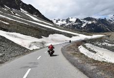 Last masses of snow on the road