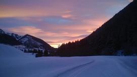 Morgenrot in Sedrun