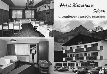 Postkarte 70-Jahre Hotel Krüzli