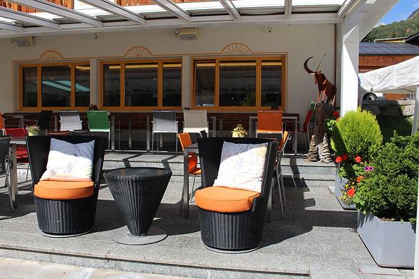 Terrasse Hotel Krüzli Sedrun