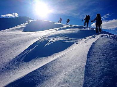 Schneeschuhwandern Gipfel
