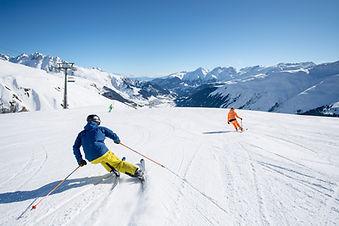 Skifahren in der Skiarena Andermat-Disentis-Sedrun