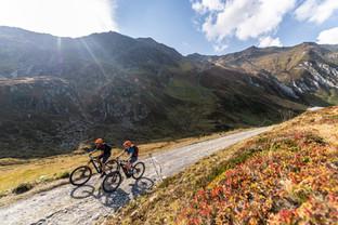 Radfahren in der Herbstsonne