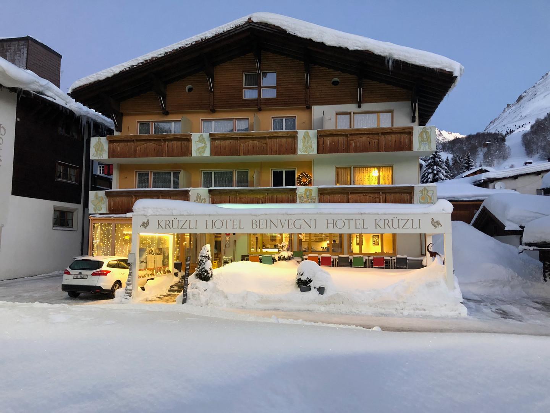 Hotel Krüzli im Winter