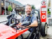Curdin Brugger im eRod Elektro Gokart Hotel Krüzli Sedrun am Oberalppass