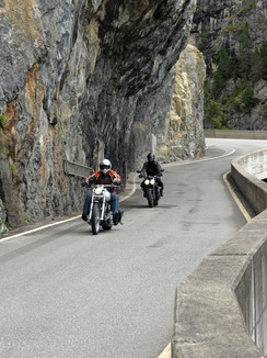 Narrow streets in the Rhine Gorge