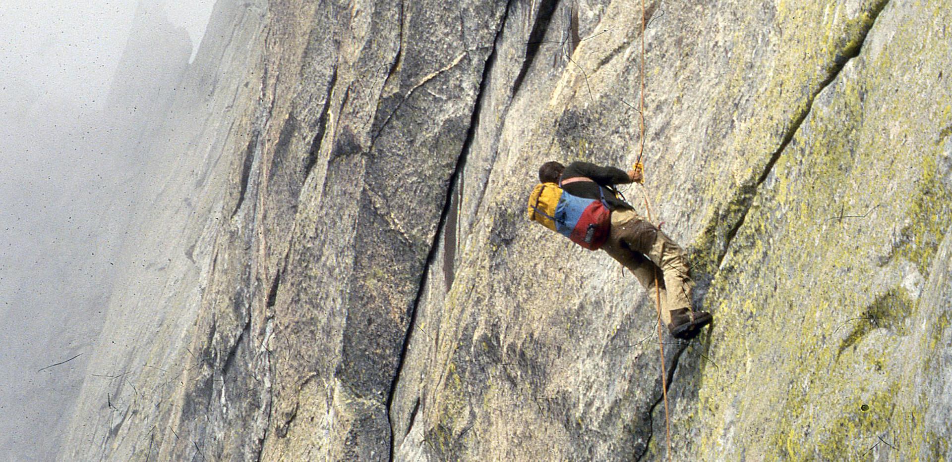 Kletterer mit Dosi Venzin