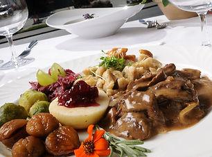 Wildteller im Restaurant Krüzli Sedrun
